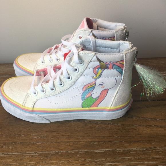 Vans Skate High Tops Unicorn Glitter 35